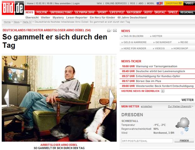 Gestatten: Arno Dübel Vollzeit ALG 2 Bezieher