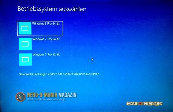 Windows 8 Bootmenü
