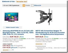 Amazon Test screen