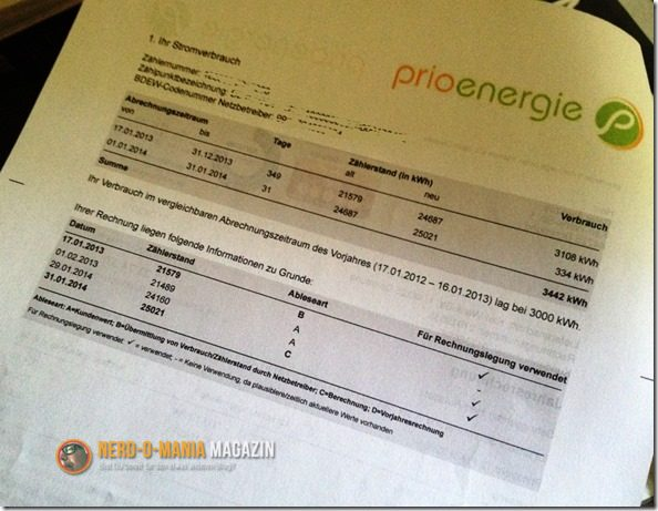 Rechnung Prioenergie