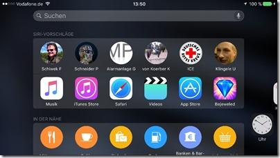 Spotlight mit Siri