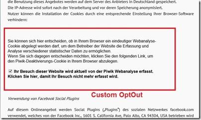 Custom OptOut