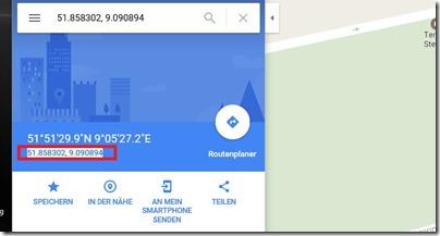 google Maps Geodaten