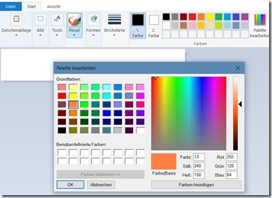 Paint Farbwerte