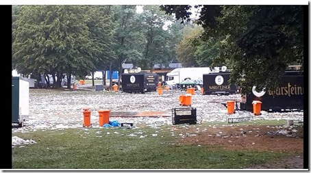 Müllberg nach Dortmunder Schlagerfestival