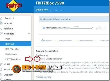 Fritz!Box Priorisierung