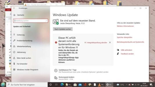 Windows 11 Installation klappt nicht - PC-Überprüfung meldet Fehler